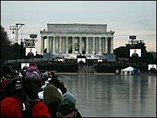 Crowd Obama inauguration concert