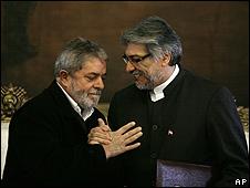 Fernando Lugo y Lula Da Silva