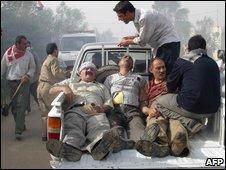 عکس منتشر شده توسط سازمان مجاهدین که می گوید مجروحان را نشان می دهد