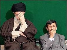 احمدی نژاد و رهبر - فارس