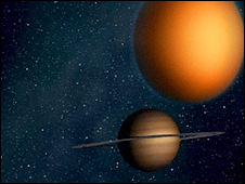 Saturno y su luna Titán