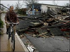 Estragos de un huracán en Cuba