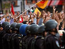 Manifestación en Tegucigalpa