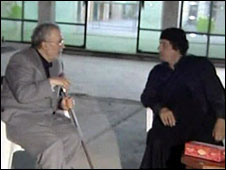 Megrahi e Muamar Kadafi