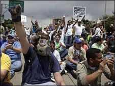Protesta contra la ley de educación en Caracas