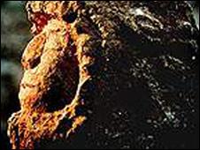 Escultura de piedra maya encontrada en la península de Yucatán en México