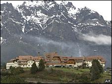 Hotel en Bariloche, sede de la cumbre de Unasur