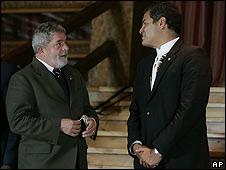 Lula da Silva y Rafael Correa