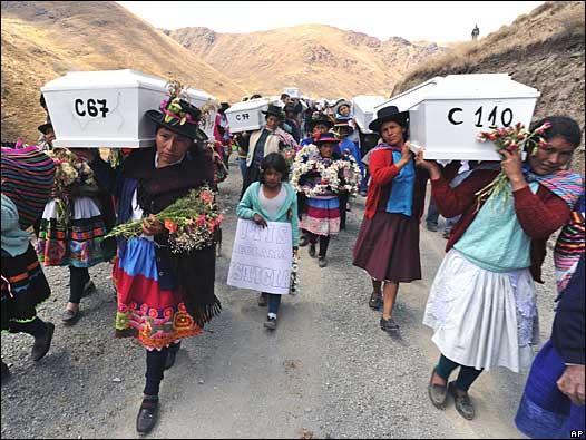 Funeral multitudinario Putis, Perú