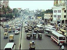 Vista de Dhaka, la capital de Bangladesh