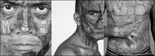 Miembros de la mara Salvatrucha, retratados por Isabel Muñoz