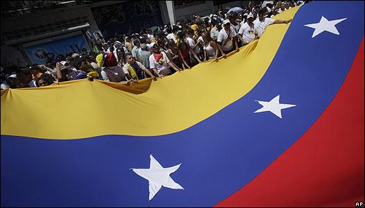 Manifestación en contra de Chávez en Caracas