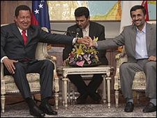 Hugo Chávez e Mahmoud Ahmadinejad