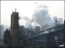 Una fábrica en China. Foto de archivo: marzo 2007