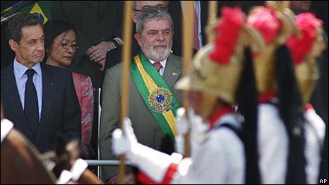 Lula da Silva y Nicolas Sarkozy