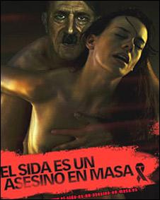 """Imagen de la Campaña """"El SIDA es un asesino en masa"""""""