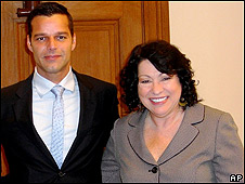 Sonia Sotomayor con Ricky Martin
