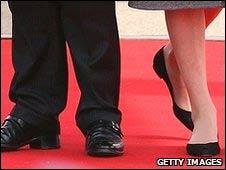 Sarkozy y su esposa