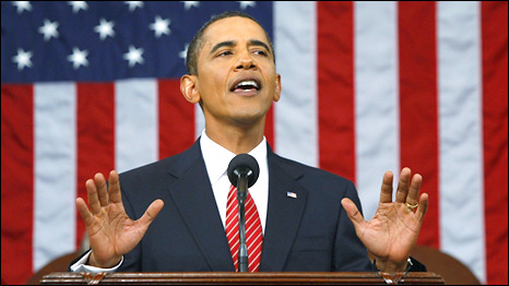 President Obama makes a speech on healthcare reform to Congress