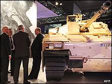 Feria de defensa Dsei, en Londres.