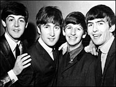 Paul McCartney, John Lenon, Ringo Starr y George Harrison, del famoso grupo, The Beatles.