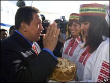 Уго Чавес в Белоруссии