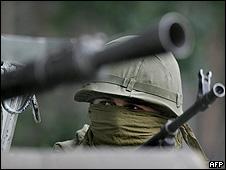 Kalashnikovs rusos. Foto de Archivo