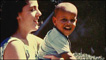 Barack Obama as a child with his mother Ann Dunham