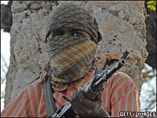 Combatientes de al-Shabab en Mogadiscio (Foto de archivo).