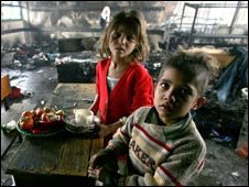 Crianças na Faixa de Gaza