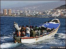 Imigrantes africanos nas Ilhas Canárias