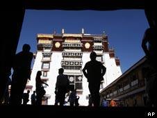 西藏布達拉宮一個入口