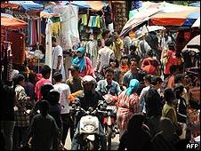 Mercado en Indonesia