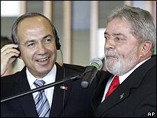 Calderón, Lula da Silva