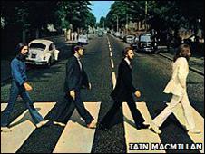 Imagen de la portada del disco Abbey Road de Los Beatles.