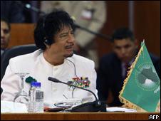 Muammar Gaddafi, líder libio