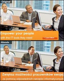 Las dos versiones de la publicidad de Microsoft