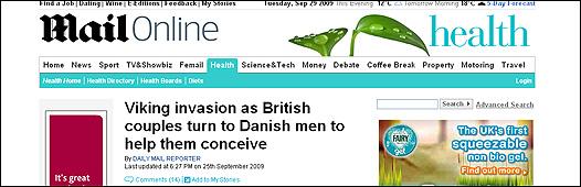 Página web del periódico ingles Mail