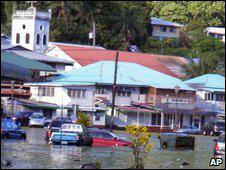美屬薩摩亞法加托哥街頭被海水淹沒(30/9/2009)