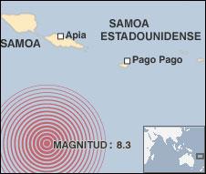 Mapa del tsunami