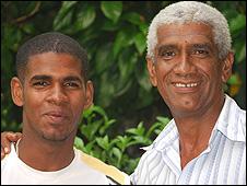 Eduardo Medina and his son Rodney