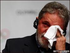 Lula chora após escolha do Rio como sede olímpica