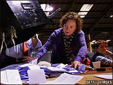 Recuento de votos en Irlanda