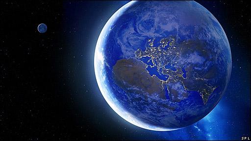 Imagen creada por ordenador de la Tierra vista desde el espacio