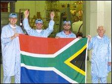Equipo del programa espacial sudafricano