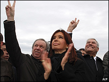 Cristina fernández en Malvinas/Falklands