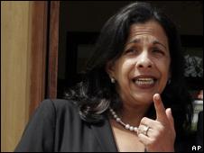 Patricia Rodas, canciller del depuesto gobierno de Honduras