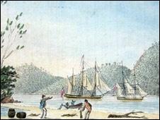 Dibujo de naves antiguas