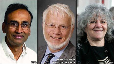 Venkatraman Ramakrishnan, Thomas Steitz y Ada Yonath