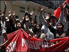 Protesta ante la propuesta de reforma a la educación
